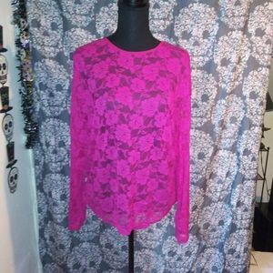Neon Pink Mesh Shirt